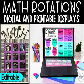 Editable Math Station Rotation Board