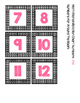 Math Station Rotation Chart Freebie- pink