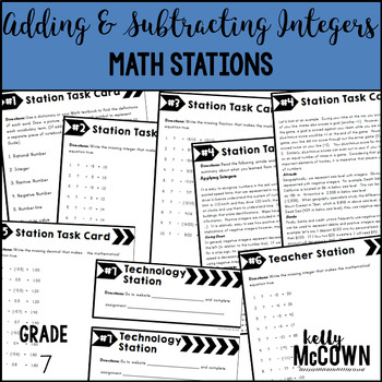 Math Stations: Adding & Subtracting Integers