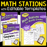 Math Stations (with Editable Templates)