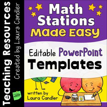 Math Stations Editable PowerPoint Templates