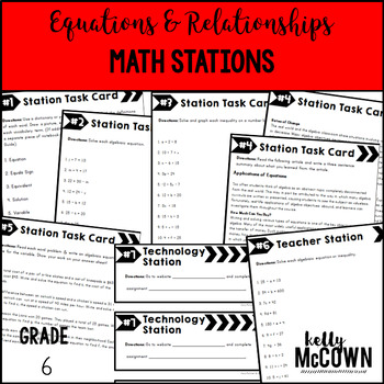 Math Stations: Equations and Relationships