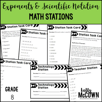 Math Stations: Exponents & Scientific Notation