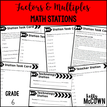 Math Stations: Factors & Multiples