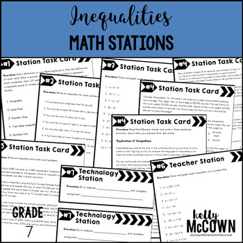 Math Stations: Inequalities