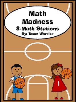 Math Stations - Math Madness Basketball Themed