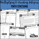 Math Stations: Multiplying & Dividing Integers