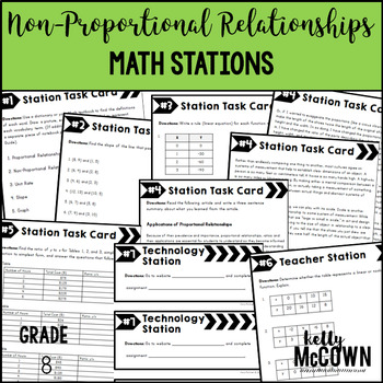 Math Stations: Non-Proportional Relationships