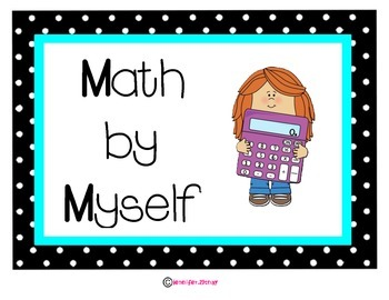 Math Stations Posters Polka Dot