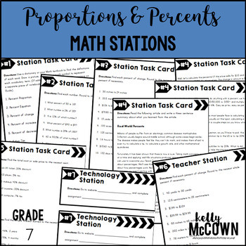 Math Stations: Proportions & Percents