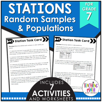 Middle School Math Stations: Random Samples & Populations