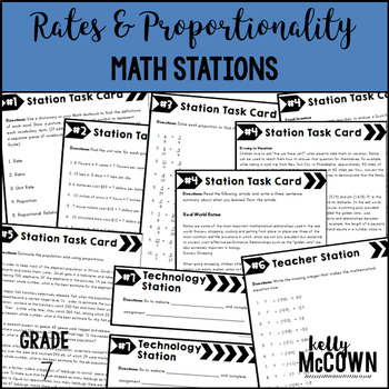 Math Stations: Rates & Proportionality