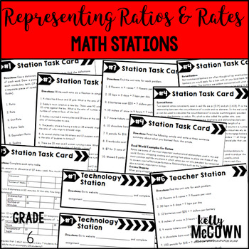 Math Stations: Representing Rates & Ratios