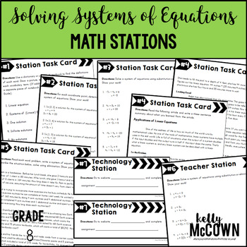Math Stations: Solving Systems of Linear Equations