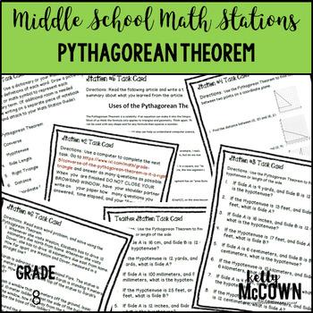 Math Stations: The Pythagorean Theorem