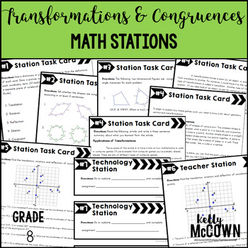 Math Stations: Transformations and Congruence