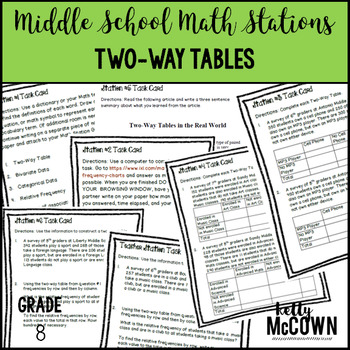 Math Stations: Two-Way Tables