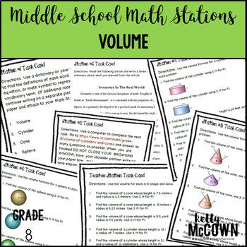 Math Stations: Volume