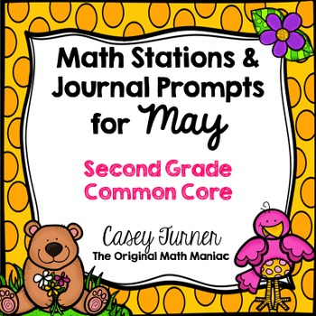 Math Stations and Journal Prompts for May: Second Grade Co