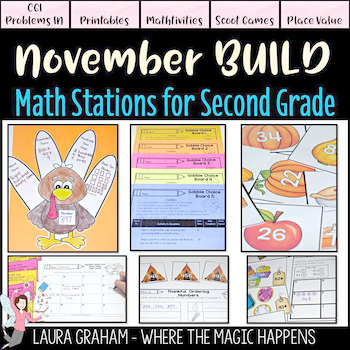 BUILD Math Stations for Second Grade NOVEMBER Common Core