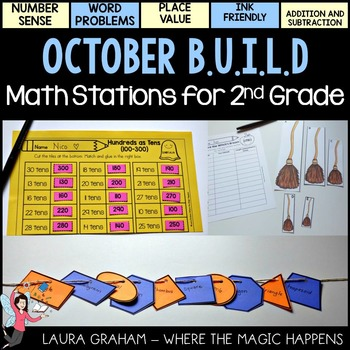 BUILD Math Stations for Second Grade OCTOBER Common Core