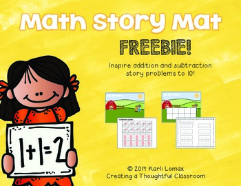 Math Story Mat FREEBIE