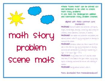 Math Story Problem Scene Mats