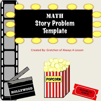 Math Story Problem Hollywood Graphic Organizer