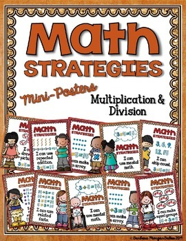 Math Strategies {Multiplication and Division} Mini-Anchor