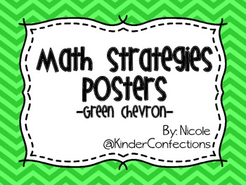 Math Strategies Posters- Green Chevron