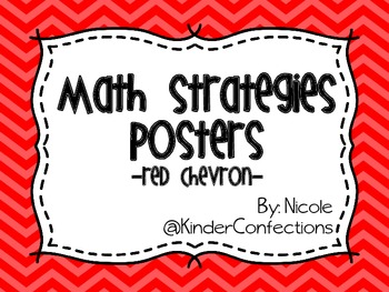 Math Strategies Posters- Red Chevron