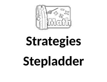 Math Strategies Stepladder Posters/Anchor Chart