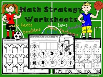 Math Strategies Worksheet: Sports Theme