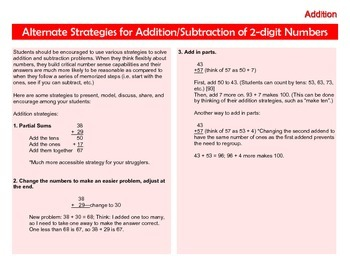 Math Strategies for Addition, Subtraction, Division, and M