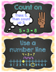 Math Strategy Posters - Chalkboard & Brights