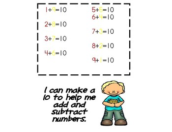 Math Strategy Posters and Mats with Flashcards (+, - and M