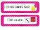 Math Strategy Strips-Polka Dot (Hot Pink)