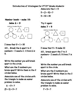 Math Stratgies Using Doubles, Make Ten and the Associative