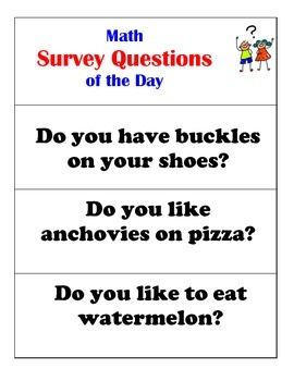 Math Survey Questions of the Day