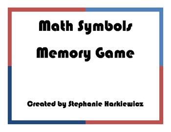 Math Symbol Matching Game