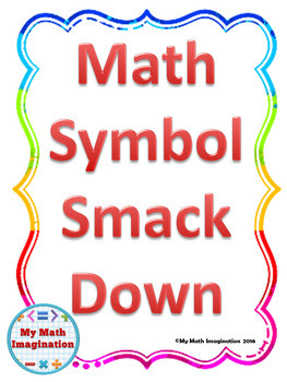 Math Symbols Smack Down includes Geometry and Algebra Symbols