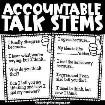 Accountability Talk Free Poster