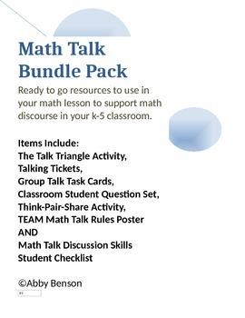 Math Talk Bundle Pack