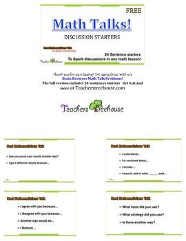 Accountable Talk Cards ~ Math Talk