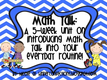 Math Talk Moves: A 5 Week Unit on Introducing Math Talk in
