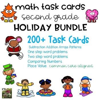 Math Task Card BUNDLE (2nd grade)