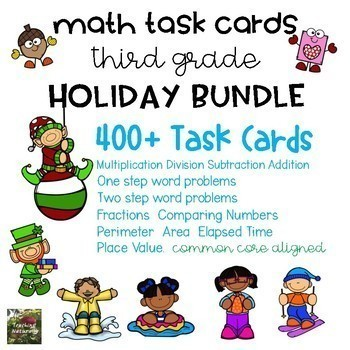 Math Task Card BUNDLE (3rd grade)