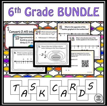 6th Grade Math Task Card BUNDLE {480 Concept-themed Cards}