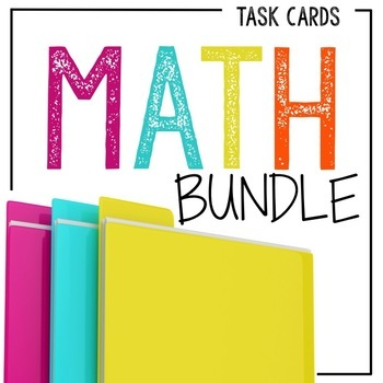 Math Task Card Bundle: A Yearlong Value Pack