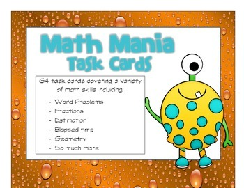 Math Test Prep Task Cards #2
